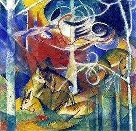 Franz Marc: Rehe im Walde I