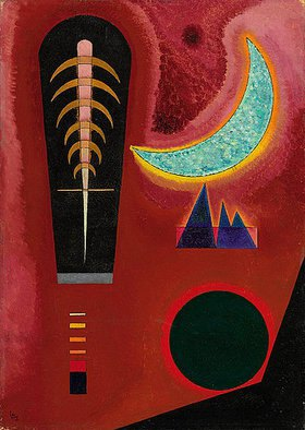 Wassily Kandinsky: Loses im Rot. 1925