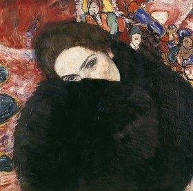 Gustav Klimt: Dame mit Muff