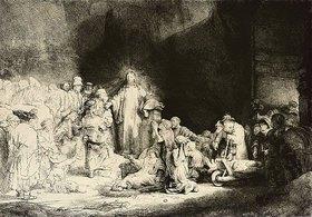 Rembrandt van Rijn: Christus heilt die Kranken. Das Hundertguldenblatt