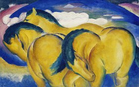 Franz Marc: Die kleinen gelben Pferde. 1912