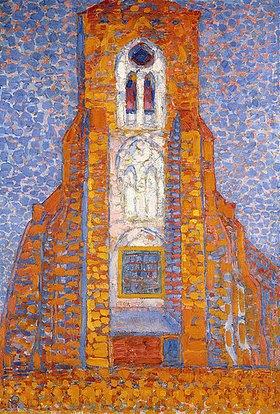 Piet Mondrian: Die Kirche von Zoutelande