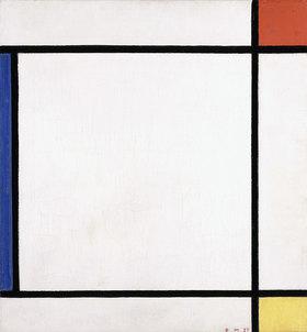 Piet Mondrian: Komposition III mit Rot, Gelb und Blau