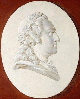 Henri Roland de la Porte: Porträt von König Ludwig XV (ein Trompe-l'?il Medaillon)