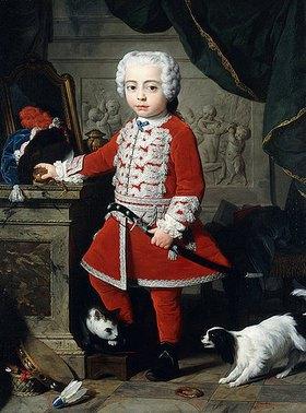 Pierre Subleyras: Porträt eines Jungen in ungarischer Tracht. (Der Dargestellte ist möglicherweise der ungarische Prinz Paul Anton II von Esterházy (1738-1794))