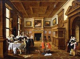 Dirck Hals: Eine fröhliche Gesellschaft in einem Interieur