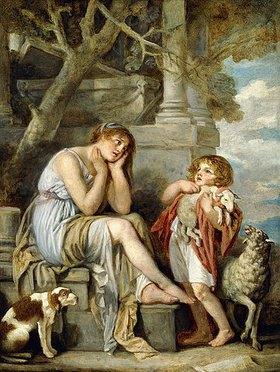 Jean Baptiste Greuze: L'Agneau Chéri