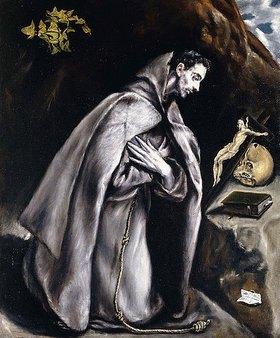 Greco El (Dominikos Theotokopoulos): Der heilige Franziskus meditierend