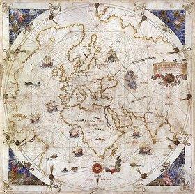 Unbekannter Künstler: Portolankarte der Welt. Venedig