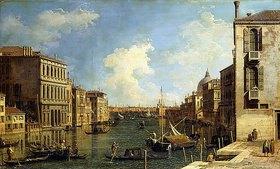 Canaletto (Giovanni Antonio Canal): Der Canal Grande in Venedig, vom Campo di San Vio nach Osten blickend