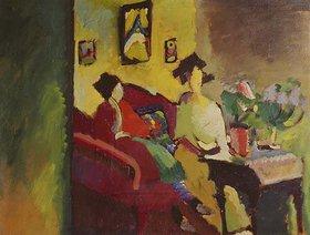 Wassily Kandinsky: Interieur. Gabriele Münter und Marianne v.Werefkin
