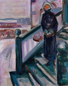 Edvard Munch: Frau auf einer Veranda