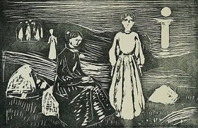 Edvard Munch: Frauen am Meeresstrand in der Sommernacht