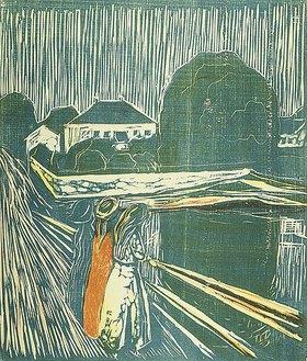 Edvard Munch: Mädchen auf der Brücke