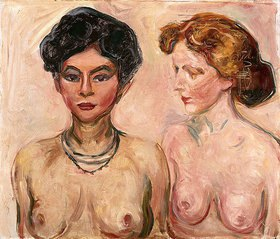 Edvard Munch: Doppelportrait (Blond und Schwarz)