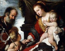 Bernardo (Il Capuccino) Strozzi: Die Heilige Familie mit Johannes dem Täufer