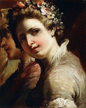 Gaetano Gandolfi: Kopfstudien eines jungen Mannes und eines Mädchens