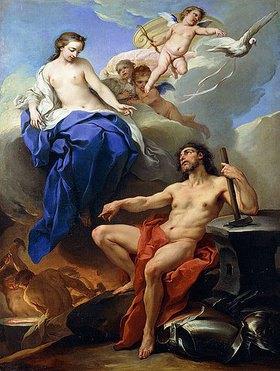 Charles André van Loo: Venus bittet Vulkan um Waffen für Aeneas