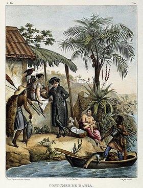 Johann Moritz Rugendas: Costumes de Bahia, aus 'Malerische Reise in Brasilien'. Erschienen