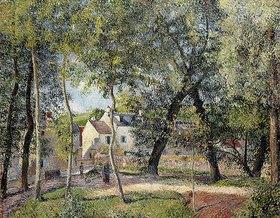 Camille Pissarro: Landschaft bei Osny in der Nähe einer Tränke (Paysage à Osny près de l'Abreuvoir)
