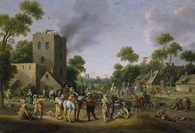 Joost Cornelisz Droochsloot: Plünderung eines Dorfes