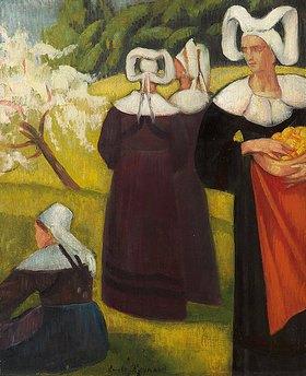 Emile Bernard: Apfelpflückerinnen in Pont-Aven (Cueilleuses de pommes à Pont-Aven)