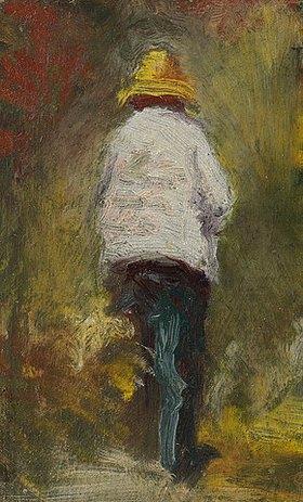 Emile Bernard: Vincent van Gogh wendet sich in Asnière seinem Motiv zu (Vincent van Gogh se rendant au motif à Asnières)