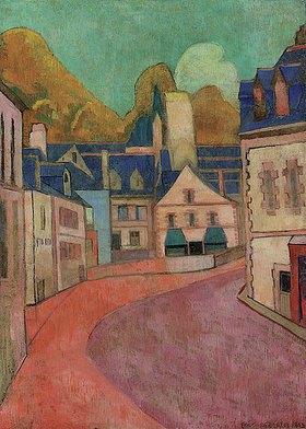 Emile Bernard: La Rue Rose à Pont-Aven