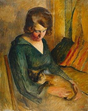 Roderick O'Connor: Sitzende Frau mit einer Katze auf ihrem Schoß (Femme Assise avec Chat sur ses Genoux)
