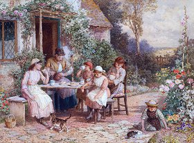 Myles Birket Foster: Teatime