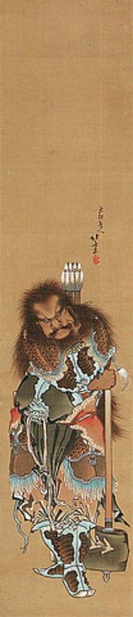 Katsushika Hokusai: Chinesischer Krieger. Edo-Zeit, Bunka-Epoche