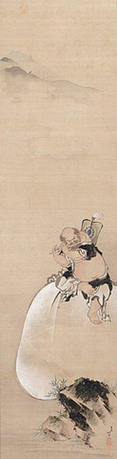 Katsushika Hokusai: Hotei. Edo-Zeit