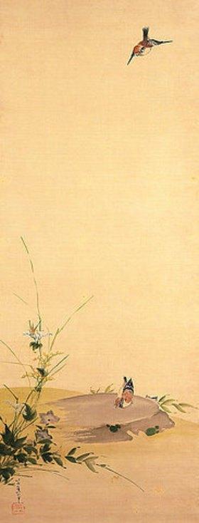 Katsushika Hokusai: Spatzen und Gräser