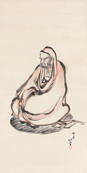 Katsushika Hokusai: Bodhidharma. Edo-Zeit