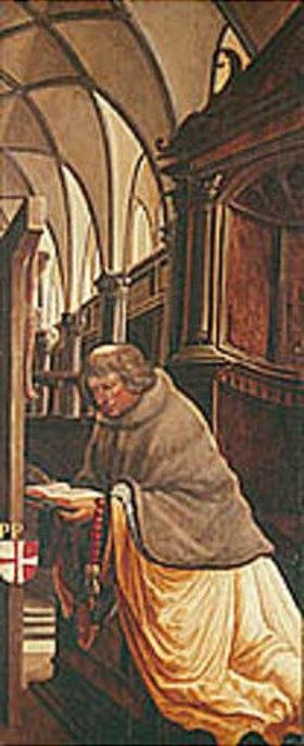 Albrecht Altdorfer: Passions/Sebastians-Altar in St.Florian Propst Maurer, Stifter des Altars