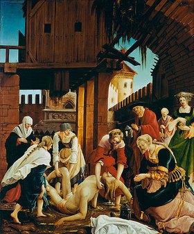 Albrecht Altdorfer: Sebastians-Altar. Die Bergung des Leichnams des hl. Sebastian