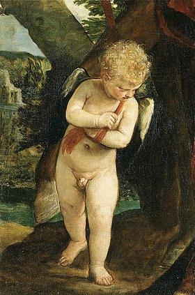 Paolo (Paolo Caliari) Veronese: Amor hält die Zügel von Mars' Streitross (Fragment)