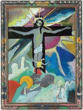 Wassily Kandinsky: Gekreuzigter Christus. Murnau