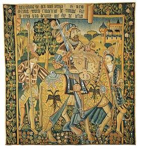 Unbekannter Künstler: Karl der Große zu Pferde. Aus der Serie der 'Neun Gute Helden'. 1. Hälfte 16. Jh