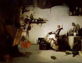 Alexandre Gabriel Decamps: Im Künstleratelier. 1830-er Jahre