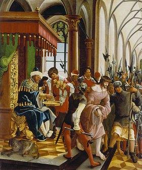 Albrecht Altdorfer: Passions/Sebastians-Altar in St.Florian Christus vor Pilatus