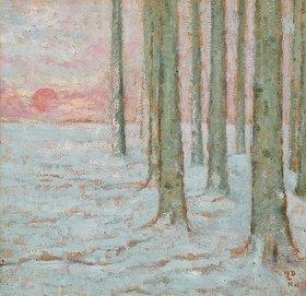 William Degouve de Nuncques: Winterwald (Hiver dans la Forêt)