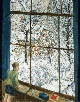 Christopher Richard Wynne Nevinson: Blick in den Schnee (Looking at the Snow)