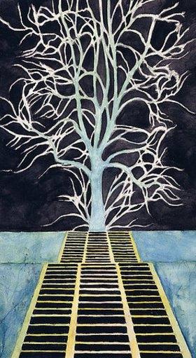 Léon Spilliaert: Der Baum am Ende der Treppe (L'Arbre au bout de l'Escalier - De boom boven aan de trap)
