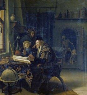 Jan Steen: Gelehrter am Studiertisch. Nach