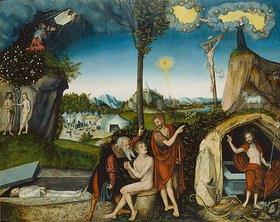 Lucas Cranach d.Ä.: Sündenfall und Erlösung des Menschen