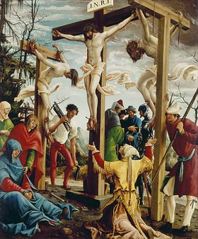 Albrecht Altdorfer: Passions/Sebastians-Altar in St.Florian Kreuzigung Christi