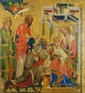 Meister des Altars von Hohenfurth: Die Anbetung der hl.drei Könige