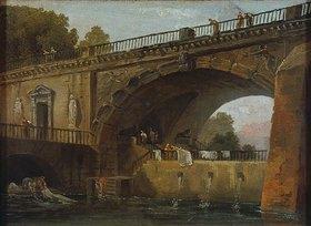 Hubert Robert: Wäscherinnen unter einem Brückenbogen