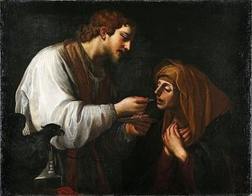 Alessandro Tiarini: Johannes reicht Maria das Abendmahl